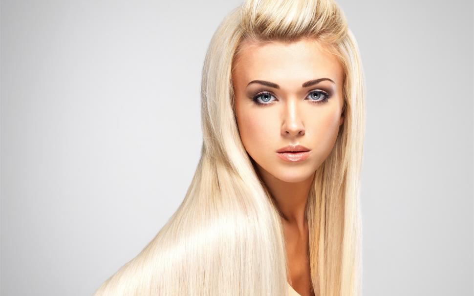 Fashion Blonde Girl Long Hair Makeup 2k Wallpaper Middle Size Swank Salon